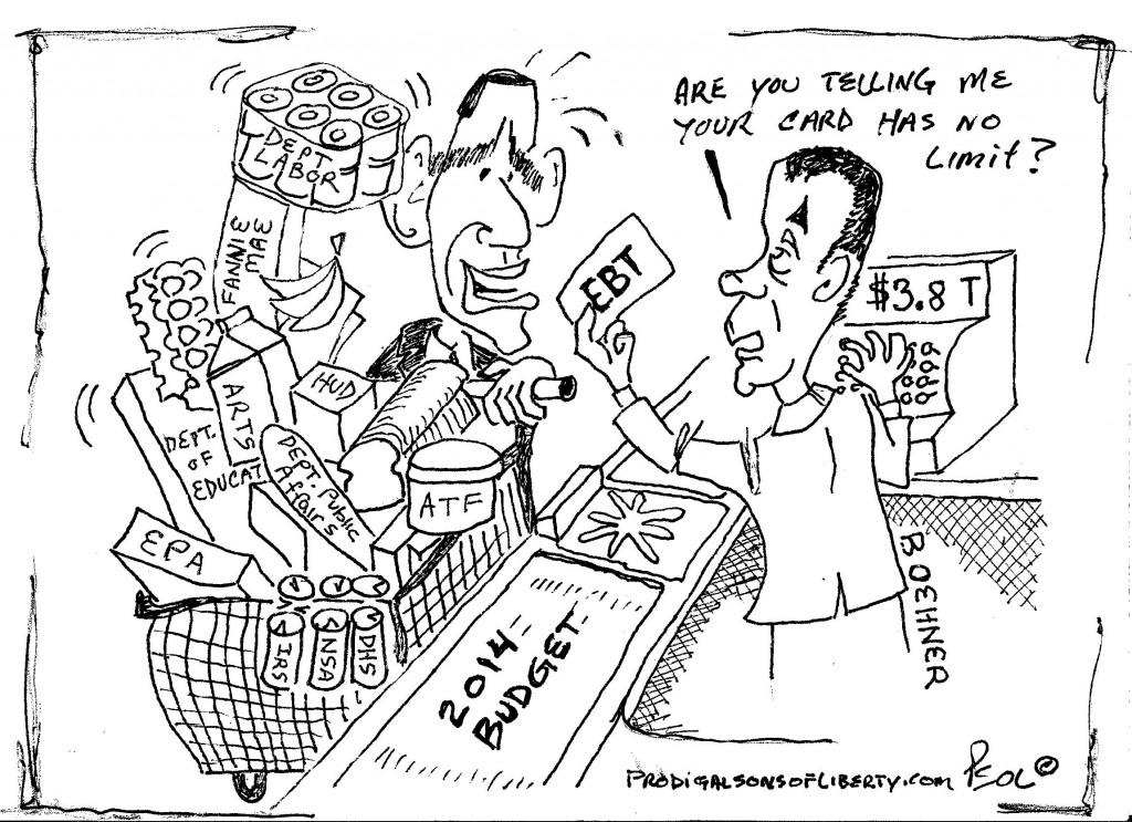 015 2013-10-17 cartoon Mal-mart Food Stamp Frenzy TYPO FIXED